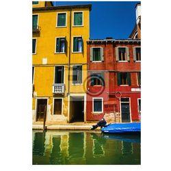 Fototapeta Piękne krajobrazy, kolorowe domy na kanał, Wenecja, Włochy