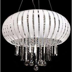 LAMPA wisząca ARMADA LDP 878 - 400 WH Lumina Deco halogenowa OPRAWA kryształowa crystal biały