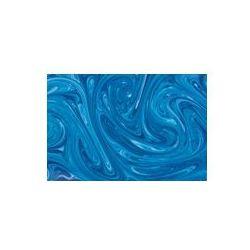 Foto naklejka samoprzylepna 100 x 100 cm - Turkusowa farba tle marmuru