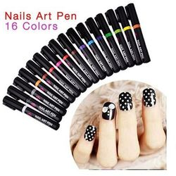 Nail Art Pen Mazak do zdobienia paznokci Nr 8 Czerwony 7ml - Nr 8 Czerwony