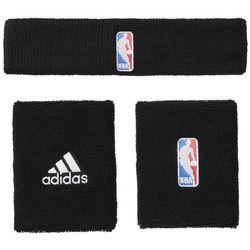 Adidas Zestaw NBA frotek na nadgarstek i opaska nagłowę- G68791 55 BT (-35%)