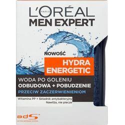 L'Oréal Paris, Men Expert Hydra Energetic, Woda po goleniu przeciw zaczerwienieniom, 100 ml Darmowa dostawa do sklepów SMYK
