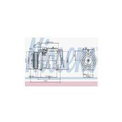 NISSENS Kompresor, klimatyzacja - 89132
