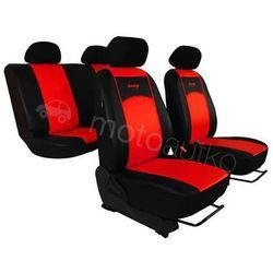Pokrowce samochodowe uniwersalne Eko-skóra Czerwone BMW Seria 1 F20/F21 od 2011 - Czerwony