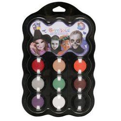 Zestaw 9 farb do malowania twarzy Grim' tout - Malefice/Halloween