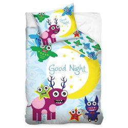 Tip Trade Dziecięca pościel bawełniana Good night Monster, 140 x 200 cm, 70 x 90 cm