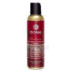 DONA by JO Kissable Massage Oil Strawberry Olejek do masażu truskawkowy 125ml