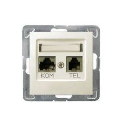 Ospel Impresja Gniazdo komputerowo - telefoniczne, MMC - Ecru - GPKT-Y/K/m/27