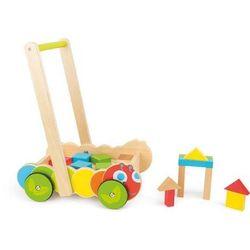 Wózek chodzik Gąsienica z klockami - zabawka dla dzieci