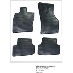 Dywaniki gumowe czarne z kompletem stoperów - Audi A4 (B5) 1995-2000