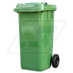Kosz na śmieci plastikowy 120 L zielony