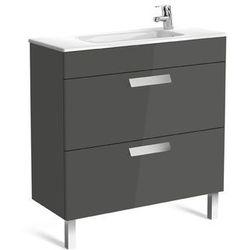 Zestaw łazienkowy Unik Compacto 80cm z 2 szufladami Roca Debba A855907806 Biały połysk