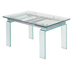 Stół INNOVATION CLEAR - Szklany 140/200 cm. Metalowy stelaż. Nogi proste.