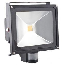 Superled Oprawa lampa naświetlacz halogen Led 30W barwa zimna z czujnikiem ruchu PIR
