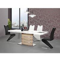 Stół FANO biały lakier/dąb sonoma