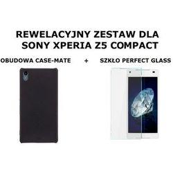 Zestaw Obudowa Case-mate BarelyThere Czarna + Szkło ochronne Perfect Glass Sony Xperia Z5 Compact