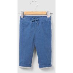 Spodnie welurowe z podszewką z dżerseju 0 miesięcy-2 lata