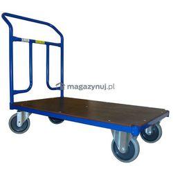 Wózek platformowy jednoburtowy, poręcz przykręcana. Wym. 1000x700mm (Ładowność: 400kg)