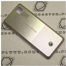 Obudowa Sony Ericsson T250i tylna / pokrywa baterii srebrna