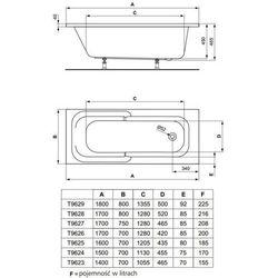 Ideal Standard Playa  170 x 70 (T962601)