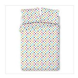 Pościel z flaneli bawełnianej Dots 160x200+2x70x80cm