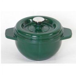 Garnek żeliwny okrągły 19 cm zielony
