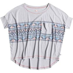 koszulka ROXY - Boxy Pocket Boho Border Heritage Heather (SGRH)
