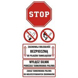 Zachowaj bezpieczną odległość od pojazdu tankującego,wyłącz silnik podczas tankowania paliwa,zakaz tankowania do niestandardowych zbiorników