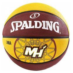 Piłka do koszykówki Spalding Miami Heat 7 żółto-brązowa