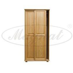 Szafa drewniana 2D nr6 drzwi przesuwne wieszak S80