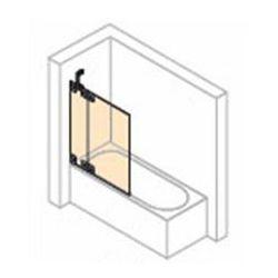 Parawan nawannowy 2- częściowy ze stałym segmentem Huppe Studio Berlin lewy , chrom mat, szkło przeźroczyste BR0429.E05.321