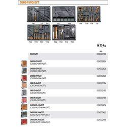 WÓZEK NARZĘDZIOWY 2400/C24S8 Z ZESTAWEM NARZĘDZI, 153 ELEMENTÓW, MODEL 2400S8-R/VG5T, CZERWONY