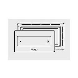 Płytka uruchamiająca Viega Visign for Style 12 szklana - szkło przejrzysty/mięta (wzór 8332.4) 645 175