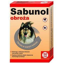 Sabunol szara obroża przeciw pchłom i kleszczom dla psa 50 cm - szara - 50 cm