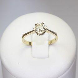 Złoty pierścionek z brylantem ZK100