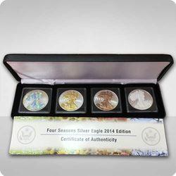 Zestaw monet Amerykański Orzeł 1 uncja srebra - 4 pory roku - wysyłka 24 h!