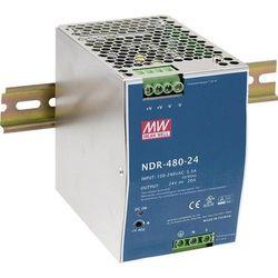 Zasilacz na szynę DIN Mean Well NDR-480-24, 480 W, 1 x