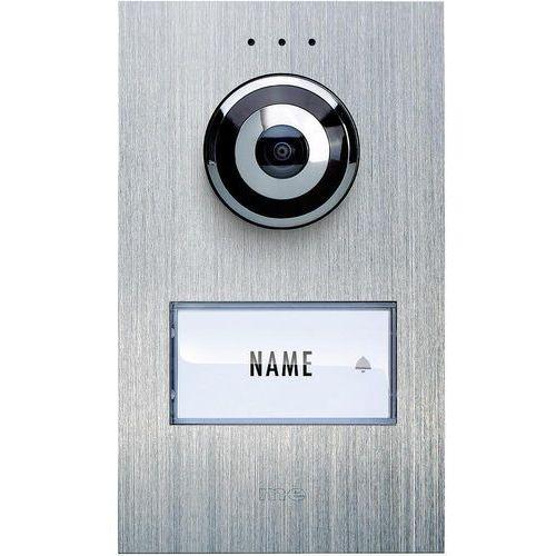 Domofon m-e modern-electronics VDV 610 compact, Jednostka zewnętrzna, Interkom drzwiowy z wideo, Dom jednorodzinny, Kolor: Stali szlachetnej