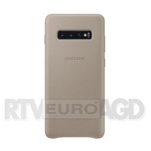 Samsung Galaxy S10+ Leather Cover EF-VG975LJ (szary)