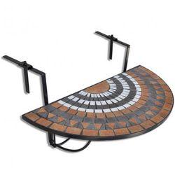 Półokrągły, wiszący stolik balkonowy, mozaika Zapisz się do naszego Newslettera i odbierz voucher 20 PLN na zakupy w VidaXL!