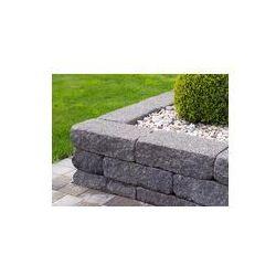 Foto naklejka samoprzylepna 100 x 100 cm - Nowoczesny ogród - kamień naturalny - kamień betonowa obudowa łóżka