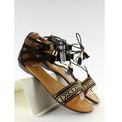 Sandałki z indiańskim wzorkiem SK68 Black