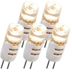 Zestaw 5 żarówek LED G4 1.5W 12V 80LM