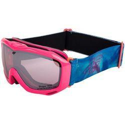 [C4Z15-JGGD200] Gogle narciarskie dziewczęce JGGD200 - neonowy koral int
