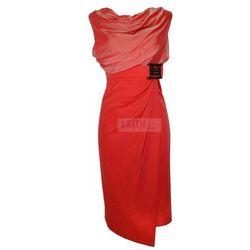 Sukienka midi z szyfonem w stylu Victoria Beckham 6 kolorów, mon 146