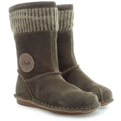 KOZACZKI CLARKS SNUGGLEFUN INFANT WALNUT SUEDE