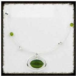 Naszyjnik z zielonym kamieniem, Kolekcja Dalia