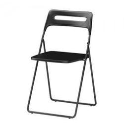NISSE Krzesło składane, czarny