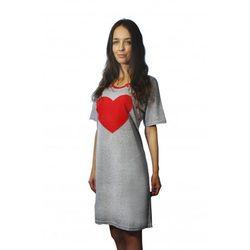 Koszula nocna do karmienia Serce