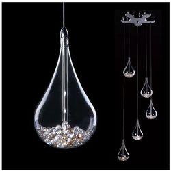 LAMPA wisząca PERLE P0226-05B Zumaline dekoracyjna OPRAWA kryształowa ŻYRANDOL kaskada crystal przezroczysty